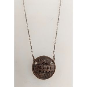Alisa Michelle Coin Pendant Necklace